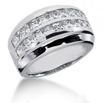Platinum Women's Diamond Ring 2.80ct