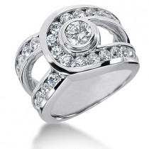Platinum Women's Diamond Ring 2.81ct