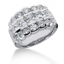 Platinum Women's Diamond Ring 3.04ct