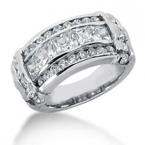 Platinum Women's Diamond Ring 3.14ct
