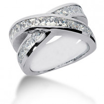 Platinum Women's Diamond Ring 3.74ct