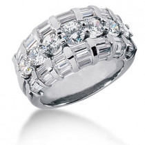 Platinum Women's Diamond Ring 3.79ct