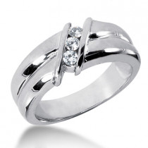 Platinum Women's Diamond Wedding Band 0.21ct