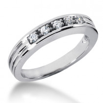 Platinum Women's Diamond Wedding Band 0.25ct
