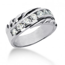 Platinum Women's Diamond Wedding Band 0.63ct