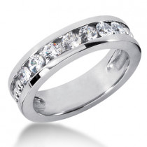 Platinum Women's Diamond Wedding Band 1.05ct