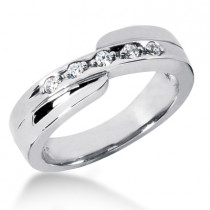 Platinum Women's Diamond Wedding Ring 0.15ct