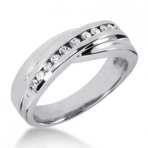Platinum Women's Diamond Wedding Ring 0.24ct