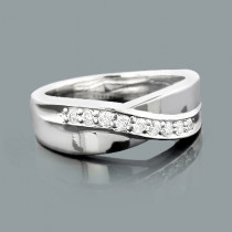 Platinum Women's Diamond Wedding Ring 0.27ct
