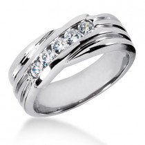 Platinum Women's Diamond Wedding Ring 0.40ct