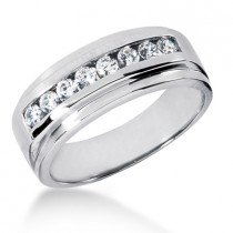 Platinum Women's Diamond Wedding Ring 0.48ct