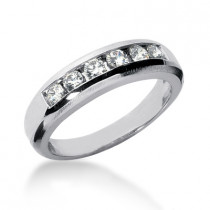 Platinum Women's Diamond Wedding Ring 0.60ct