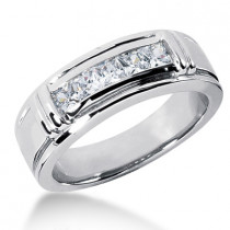 Platinum Women's Diamond Wedding Ring 0.85ct