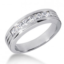 Platinum Women's Diamond Wedding Ring 0.98ct