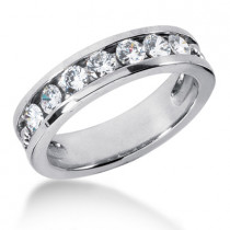 Platinum Women's Diamond Wedding Ring 1.05ct
