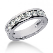 Platinum Women's Diamond Wedding Ring 1.35ct