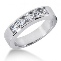 Platinum Women's Diamond Wedding Ring 1ct