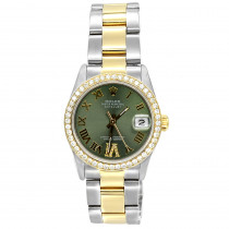 Pre-Owned Rolex Oyster Perpetual Datejust Diamond Bezel Watch For Men 3ct