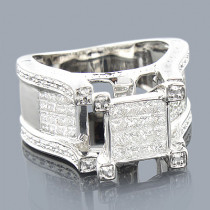Princess Cut Diamond Rings: 14K Engagement Ring 1.27ct