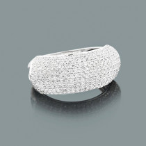 Puffed Diamond Ring 0.78ct 14K Gold Womens Jewelry