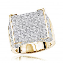 Real Hip Hop Diamond Ring for Men 4.35ct