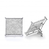 Real Hip Hop Jewelry: Diamond Earrings 10K Gold 1.13ct