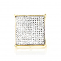Real Hip Hop Jewelry:10K Gold Men's Diamond Oversized Stud Earring  0.6ct