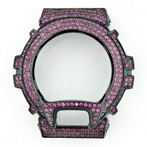 Replacement G-Shock Bezel with Fuchsia Crystals