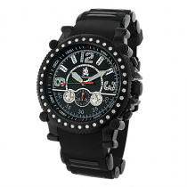 Richard & Co Mens Diamond Black Watch 1.0ct