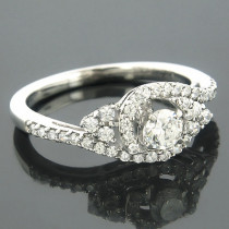 Ring Mountings 14K Diamond Engagement Ring Setting 0.78