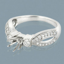 Ring Settings 14K Diamond Engagement Ring Setting .60ct