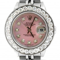 Rolex Datejust Diamond Bezel Watch for Women Stainless Steel 2 carats