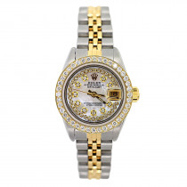 Rolex Datejust Ladies Custom Diamond Watch 1.5 ct