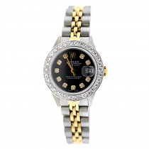 Rolex Datejust Ladies Diamond Bezel Watch 1.5ct
