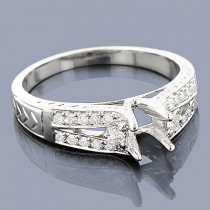 Round Diamond Engagement Ring Setting 0.29ct 14K