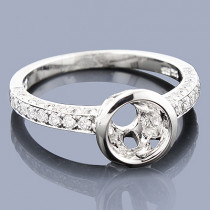 Round Diamond Engagement Ring Setting 0.98ct 14K