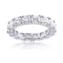 Thin Round Diamond Eternity Band in 18K Gold 4.45ct
