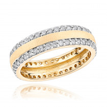 Round Diamond Eternity Ring 1.35ct 14K Designer Jewelry