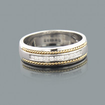 Round Diamond Mens Wedding Band 0.40ct 14K Gold