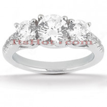 Round Diamond Platinum Engagement Ring 2.20ct