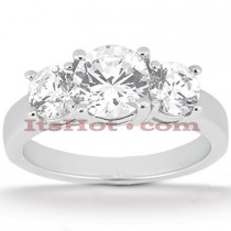 Round Diamond Platinum Engagement Ring 2ct