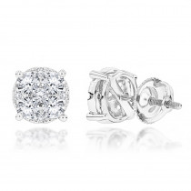 Round Diamond Stud Earrings 1.20ct 14K Gold