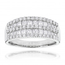Round Princess Cut Diamond Ring 1.87ct 14K