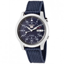 Seiko Watches: Men's Seiko 5 Automatic Blue Dial Blue Fabric SNK807K2
