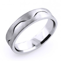 Serpantine Wedding Band for Men 14K Solid Gold