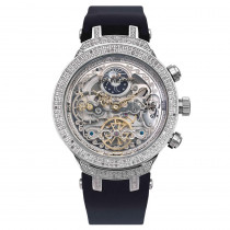 Skeleton Watches White Automatic Joe Rodeo Master Mens Diamond Watch 2.2ct