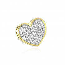 Small 10K Gold Real Diamond Heart Pendant 0.25ct