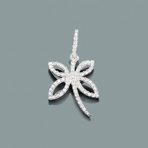 Small Diamond Butterfly Pendant 0.25ct 10K Gold
