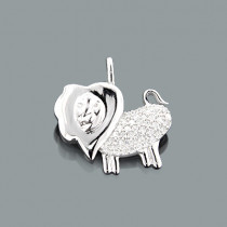 Small Diamond Pendants: Gold Lion Charm 0.13ct 10k Gold Leo Charm