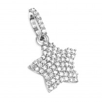 Small Diamond Star Pendant Real 14K Gold 0.17ct